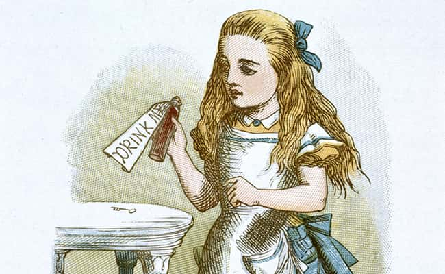 A colour illustration of Alice by John Tenniel. © The British Library Board