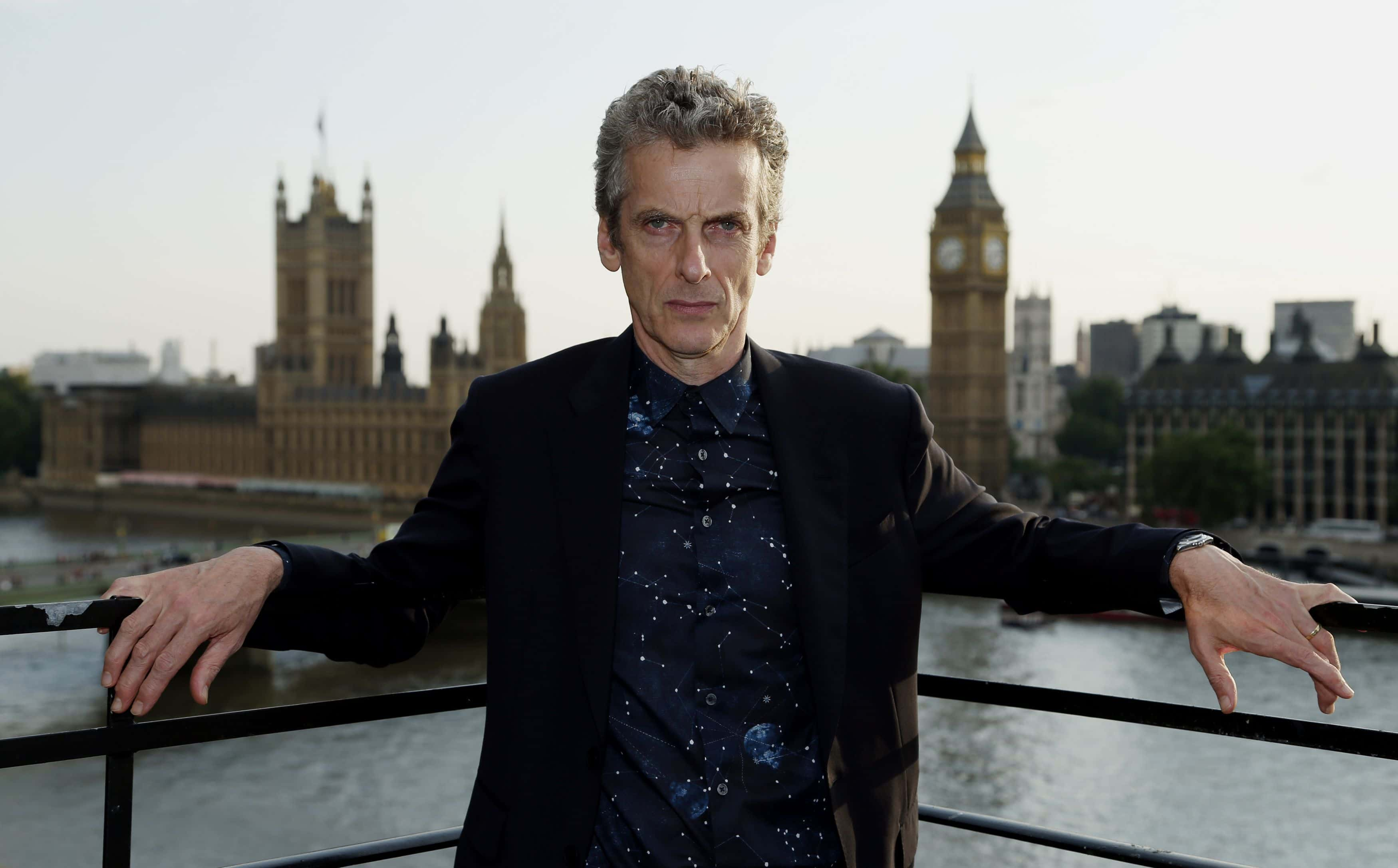 Dr Who star Peter Capaldi during a photocall to launch the new Dr Who series at the Marriott County Hall, London.