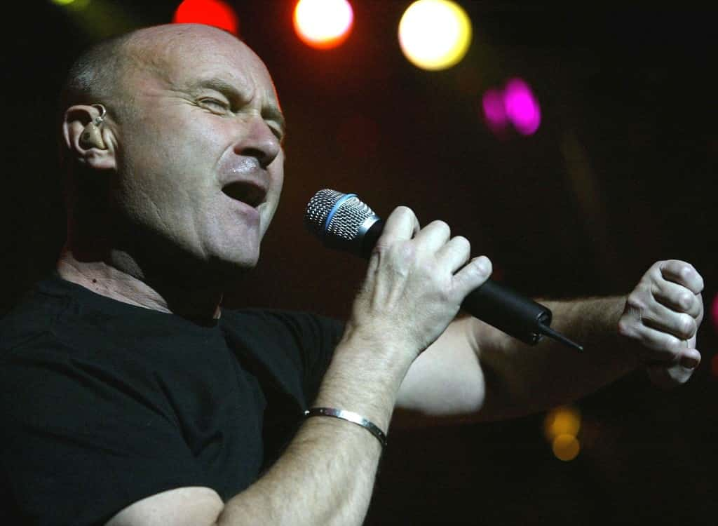 "Phil Collins performs at the concert in occasion of the pre-screening of the new Disney movie ""Brother Bear"", for wich he wrote the soundtrack, in the Arena in Geneva, Switzerland."